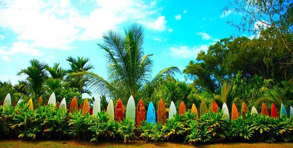 Surfboard Fence Photograph - Hawaii Surfboard Fence Photograph  by Michael Ledray