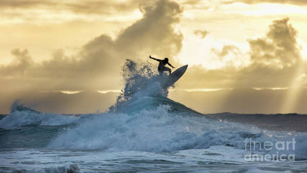 Wall Art - Photograph - Hawaii Surfing Sunset Polihali Beach Kauai by Dustin K Ryan