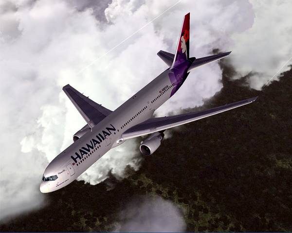 Hawaiian Airlines Boeing 767-300er Art Print