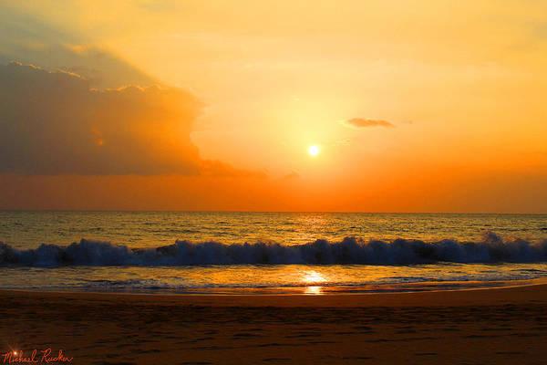 Ocean Sunrise Wall Art - Photograph - Hawaiian Beach by Michael Rucker