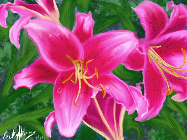Painting - Hawaiian Flowers by Becky Herrera