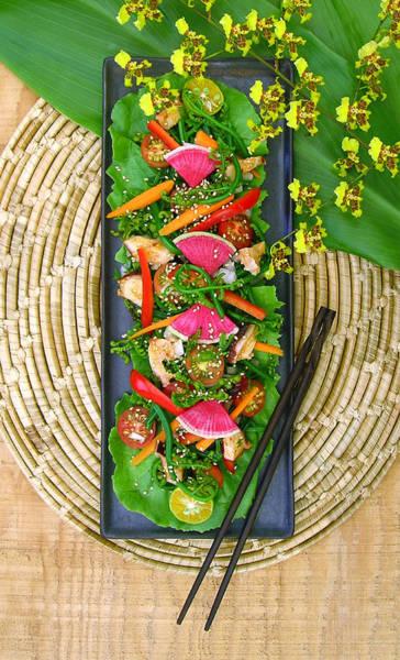 James Temple Photograph - Hawaii Pahole Fern Salad by James Temple