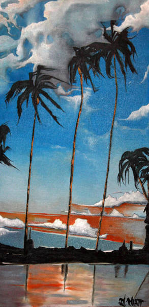 Painting - Hawaiian Sunset by Jhiatt