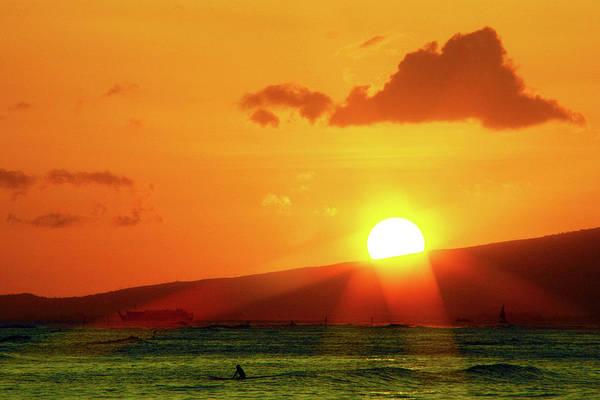 Wall Art - Photograph - Hawaiian Sunset by Mitch Cat