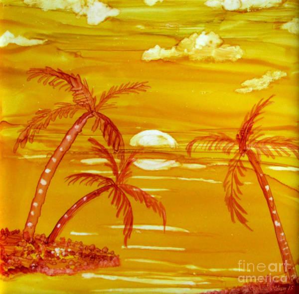Alcohol Ink Photograph - Hawaiian Sunset  by Stephanie  Skeem
