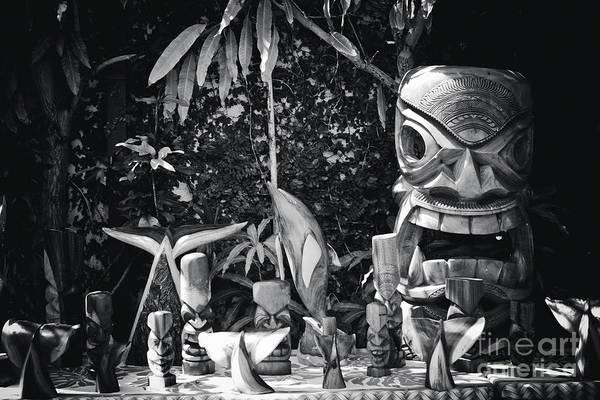 Photograph - Hawaiian Tiki Carvings by Sharon Mau
