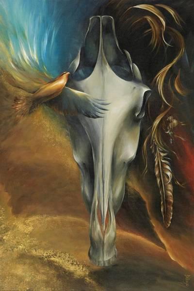 Hawk Painting - Hawk Medicine by Dina Dargo