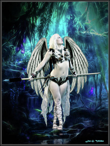 Photograph - Hawk Woman In The Enchanted Forest by Jon Volden