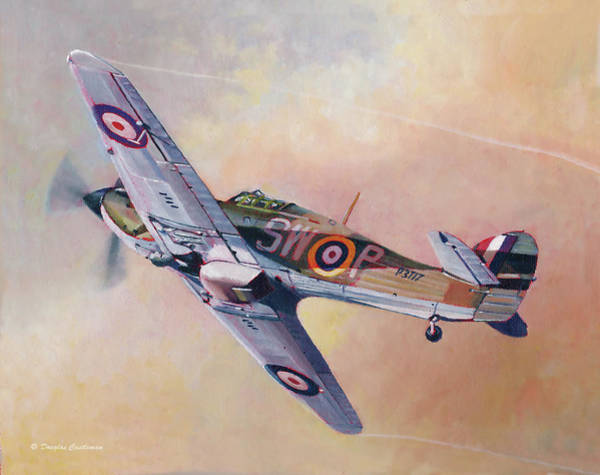Painting - Hawker Hurricane by Douglas Castleman