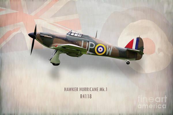 Hurricane Digital Art - Hawker Hurricane Mk1 R4118 by J Biggadike