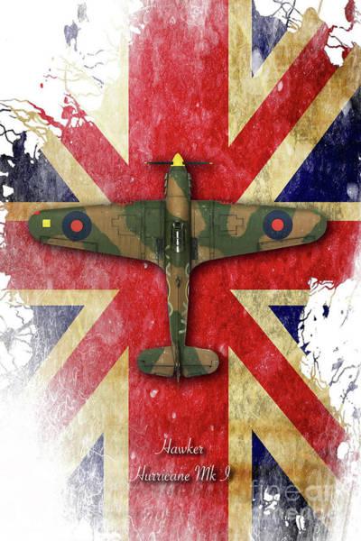 Hurricane Digital Art - Hawker Hurricane Mk.i by J Biggadike