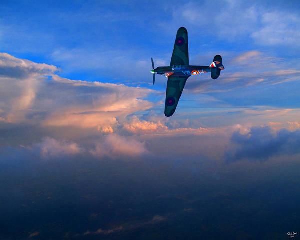 Photograph - Hawker Hurricane On Dawn Patrol by Chris Lord