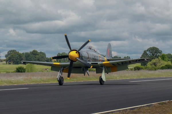 Hawker Sea Fury Photograph - Hawker Sea Fury Landing by Jeff Kinder