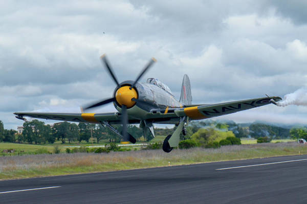 Hawker Sea Fury Photograph - Hawker Sea Fury Taking Off by Jeff Kinder