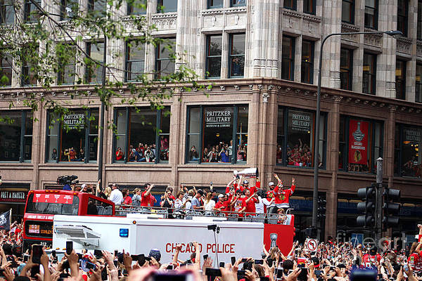 Wall Art - Photograph - Hawks 2015 Celebration Parade Stanley Cup Trolley by Verana Stark