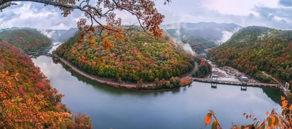 Photograph - Hawks Nest State Park Autumn Splendor by Mary Almond