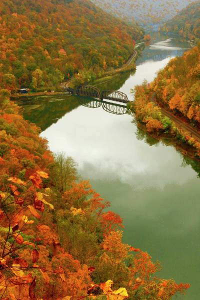 Photograph - Hawks Nest State Park In Autumn by Ola Allen