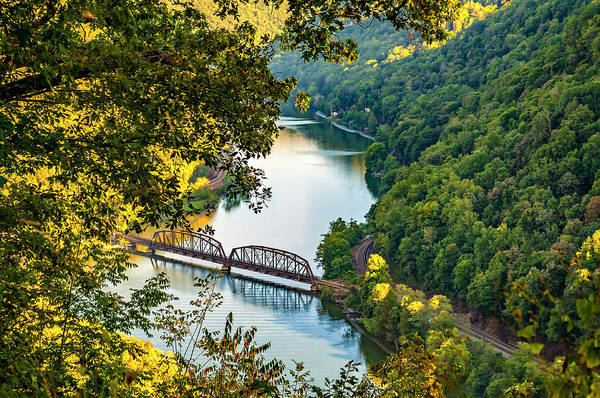 River Hawk Photograph - Hawks Nest, West Virginia by Steve Harrington