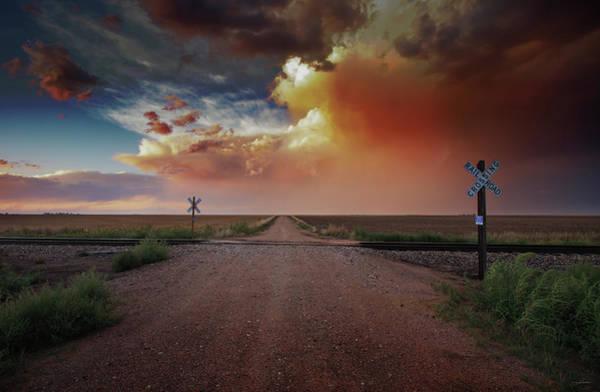 Rr Photograph - Haxtun Crossing by Brian Gustafson