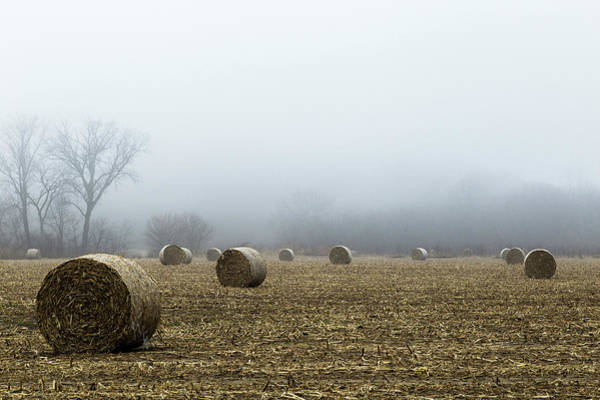 Photograph - Hay Bales In A Field by Pete Hendley