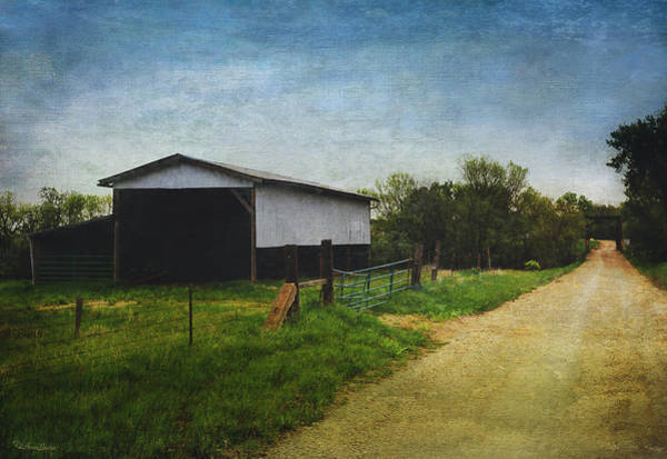 Photograph - Hay Barn On Countryside Creek Road by Anna Louise