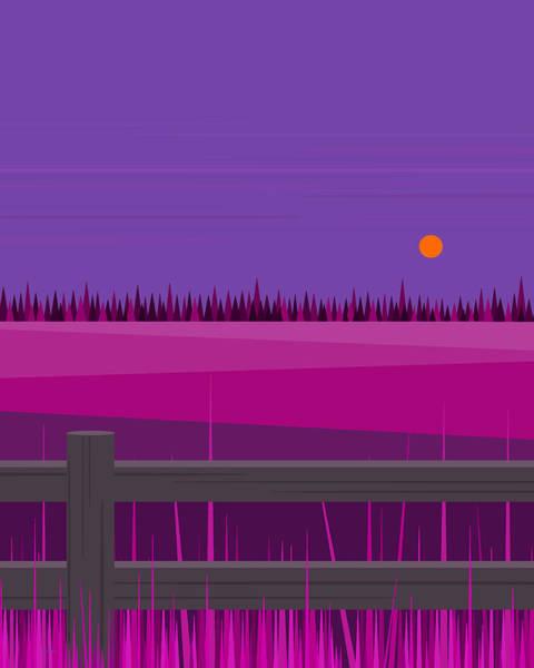 Semis Digital Art - Hay Fields At Twilight by Val Arie
