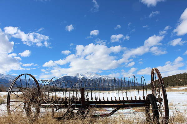 Wall Art - Photograph - Hay Rake In The Valley by Weathered Wood