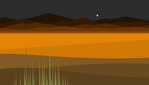 Semis Digital Art - Hay Stack Mountain Under A Night Sky by Val Arie