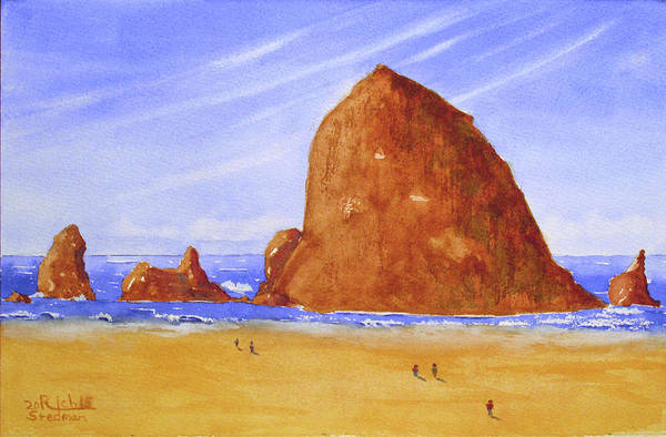Tapestry - Textile - Hay Stack Rock by Rich Stedman