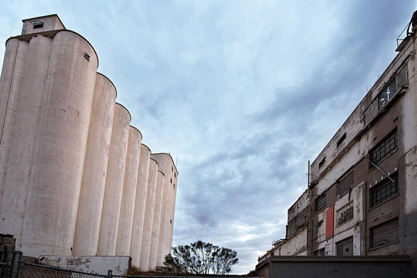 Grain Elevator Photograph - Hayden Grain Elevator Side View by Dave Dilli