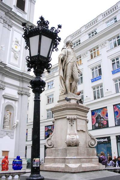 Photograph - Haydn On Vienna Street Corner by Angela Rath