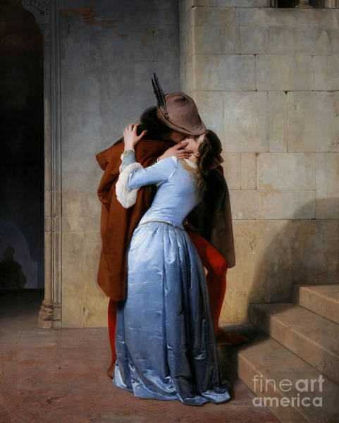 Painting - Hayez, The Kiss by Granger