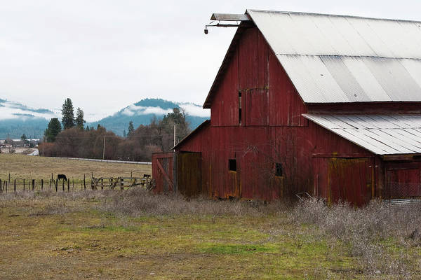 Hayfork Red Barn Art Print
