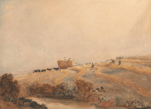 Painting - Haymaking by David Cox