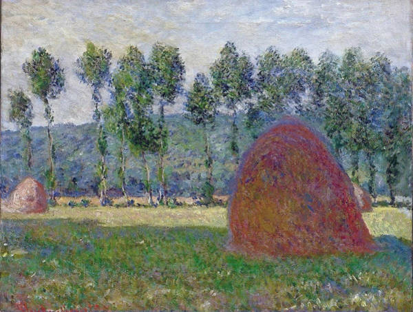 Barley Painting - Haystack At Giverny, 1885 by Claude Monet