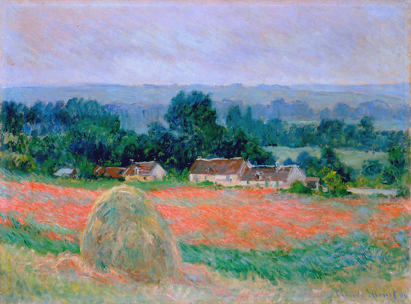 Barley Painting - Haystack At Giverny 1886 by Claude Monet