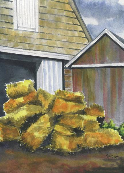 Hay Bale Wall Art - Painting - Haystack by Marsha Elliott