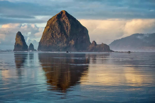 Photograph - Haystack Rock by Albert Seger