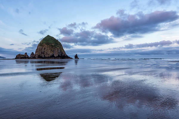 Photograph - Haystack Rock At Low Tide In Early Morning by Belinda Greb