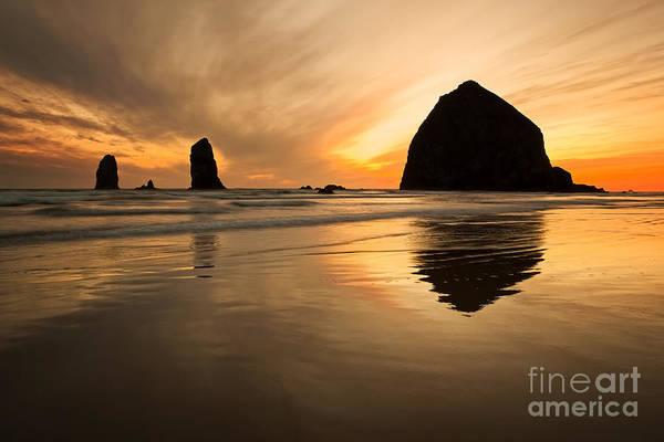 Photograph - Haystack Rock by Bryan Mullennix