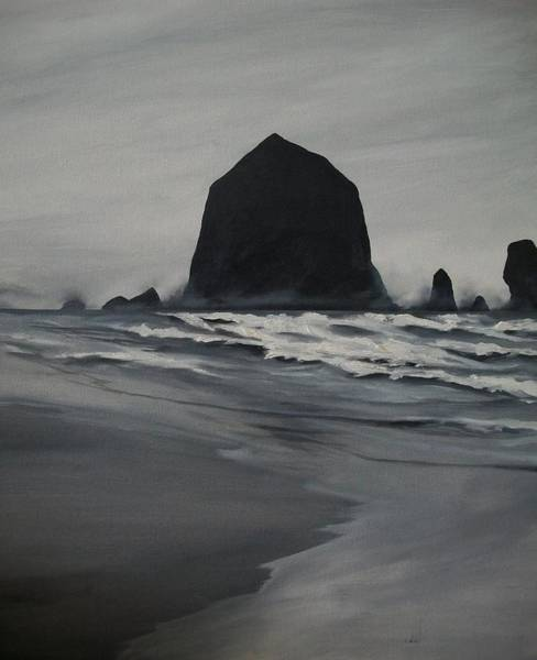 Cannon Beach Painting - Haystack Rock  by Dave Bloomfield