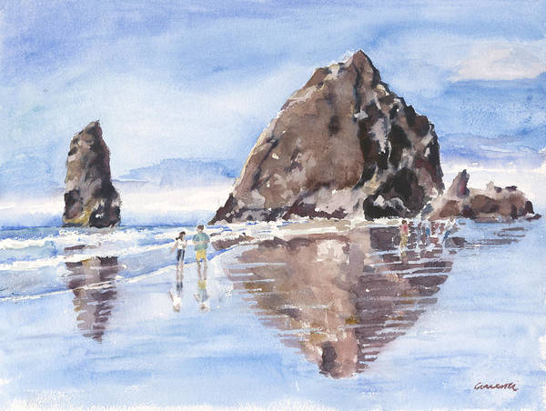 Cannon Beach Painting - Haystack Rock by Deborah Correnti