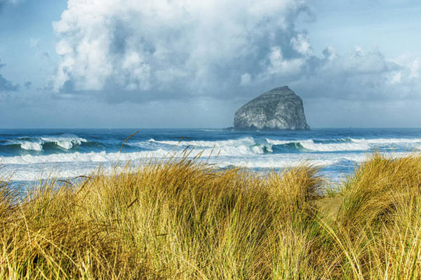 Wall Art - Photograph - Haystack Rock During A Storm From Bob Straub State Park, Pacific by John Trax