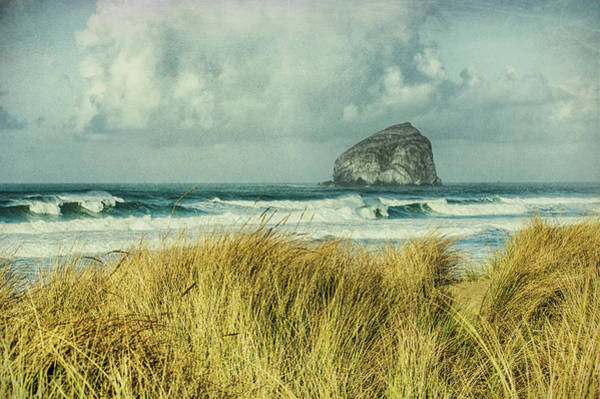 Wall Art - Photograph - Haystack Rock During A Storm From Bob Straub State Park, Rustic, Pacific by John Trax