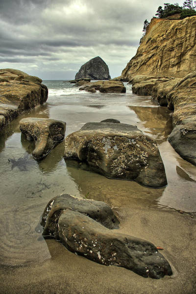 Photograph - Haystack Rock, Pacific City, Or by Jedediah Hohf