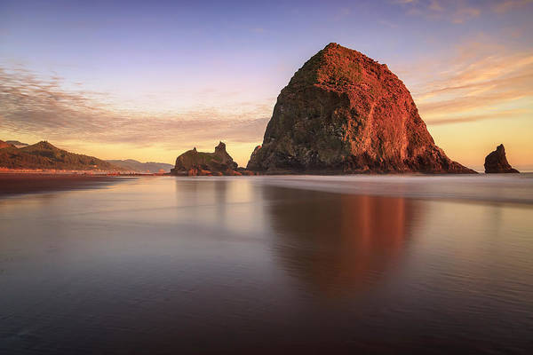Photograph - Haystack Rock Sunset by Adam Romanowicz