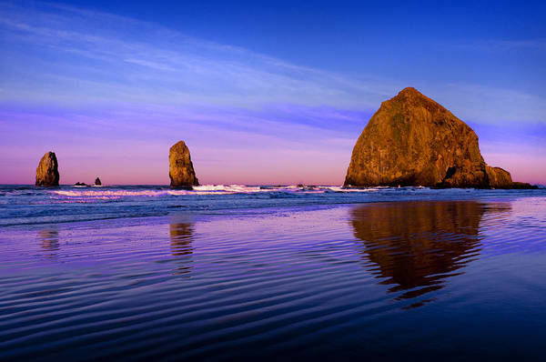 Oregon Coast Photograph - Haystack Sunrise by Brian Bonham