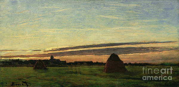 Painting - Haystacks At Chailly by Celestial Images