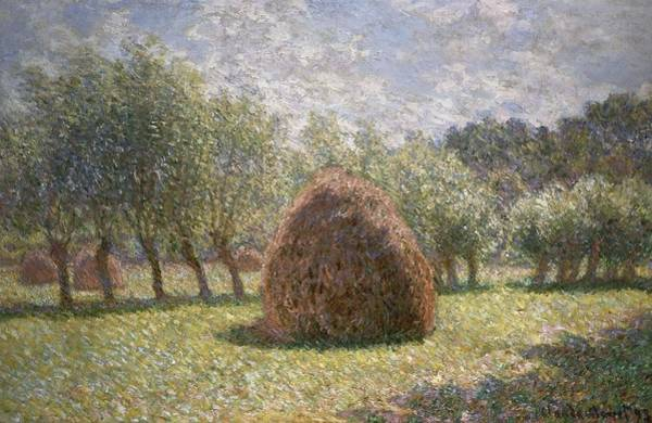 Giverny Painting - Haystacks At Giverny by Claude Monet