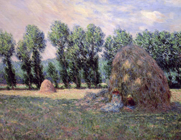 1885 Wall Art - Painting - Haystacks by Claude Monet